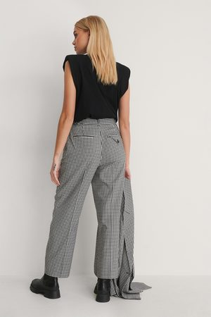 NA-KD Kvinna Trekvartsbyxor - Check Cropped Pants
