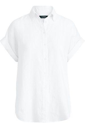 LAUREN RALPH LAUREN Kvinna Casual - Broono short sleeve shirt