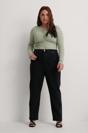 NA-KD Kvinna High waist - Ekologiska Raka Jeans Med Hög Midja