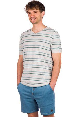 Kazane Landscape T-Shirt light heather grey/stripe