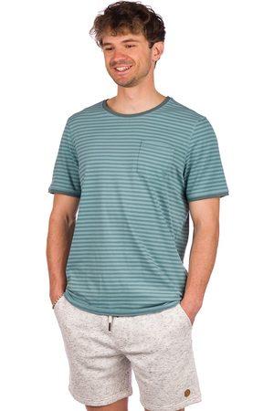Kazane Arvid T-Shirt pine/mineral blue