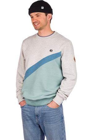 Kazane Aaroni Sweater minrl blu hthr/lt htr gry