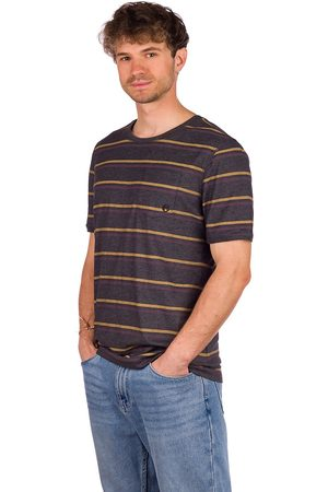 Kazane Moss T-Shirt charcoal heather/stripe