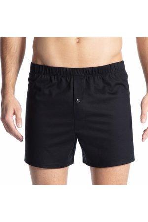 Calida Kalsonger Cotton Code Boxer Shorts With Fly Svart bomull Large Herr