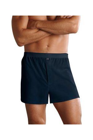 Jockey Kalsonger Woven Poplin Boxer Shorts Mörkblå bomull Large Herr