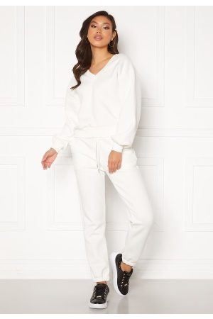 SisterS point Kvinna Joggingbyxor - Peva Pant 101 off. white S