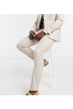 Harry Brown Tall – Bröllop – Kostymbyxor i ylleblandning med smal passform-Krämvit