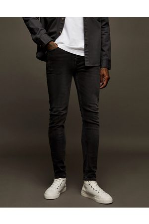 Topman – Bleksvarta skinny jeans med stretch