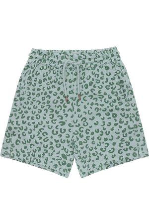 Soft Gallery Shorts - Hudson - Slate m. Leopard
