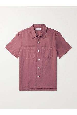Mr P. Man Casual - Garment-Dyed Cotton and Linen-Blend Shirt