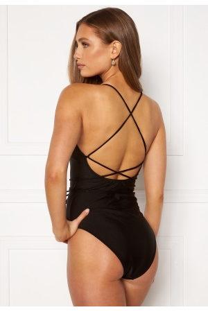 BUBBLEROOM Melia high thigh strap swimsuit Black S
