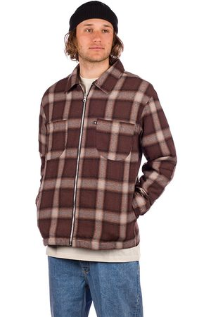 Pass-Port Quilted Zip-Up Flannel Jacket choc