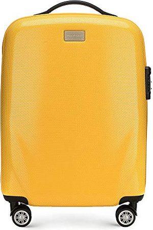Wittchen Trolley ombordbagage handbagage material polykarbonat vikt 2,3 kg 32 L 4 rattrullar nummerlås hårt skal gummihandtag färg
