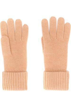 N.PEAL Kvinna Handskar - Ribbstickade vantar