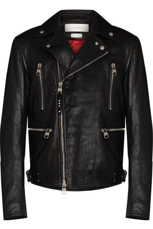 Alexander McQueen Man Skinnjackor - Skinnjacka i bikermodell