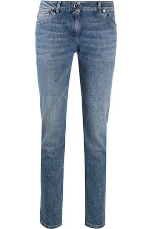 Brunello Cucinelli Kvinna High waist - Straight-jeans med hög midja