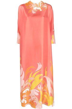 Emilio Pucci Kvinna Strandkläder - Kaftanklänning med tropiskt tryck