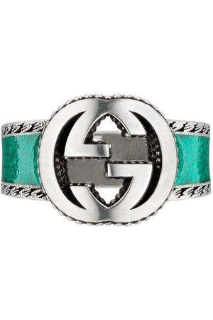 Gucci Silverring med logotyp