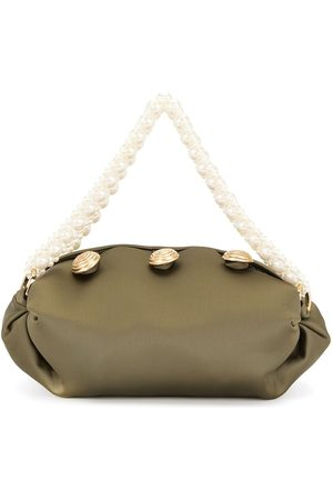 0711 Kvinna Handväskor - Nino väska med pärlhandtag