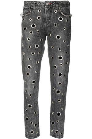 Philipp Plein Boyfriend-jeans med ringdetalj