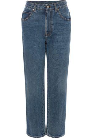 Alexander McQueen Kvinna High waist - Straight-jeans med hög midja