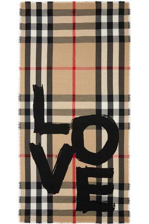 Burberry Sjalar - Vintagerutig sjal med tryck