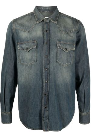 Saint Laurent Jeansskjorta i westernmodell