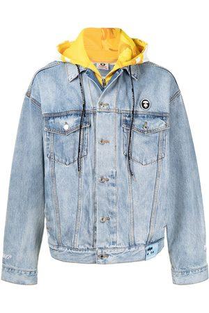 AAPE BY A BATHING APE Man Jeansjackor - Hood-layer denim jacket