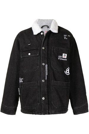 AAPE BY A BATHING APE Man Jeansjackor - Faux shearling-collar denim jacket
