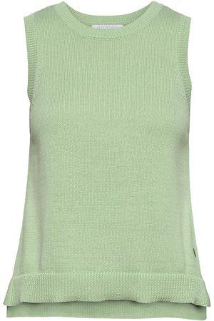 Coster Copenhagen Knit Vest In Seawool - Seawool Vests Knitted Vests Grön