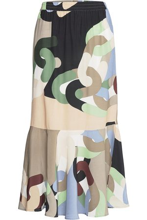 Coster Copenhagen Kvinna Mönstrade kjolar - Skirt In Chain Print Lång Kjol Multi/mönstrad