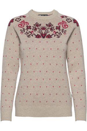 Helly Hansen W Wool Knit Sweater Stickad Tröja Beige