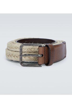 Dolce & Gabbana Man Bälten - Jute and leather belt