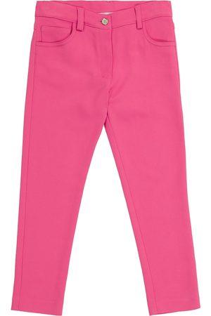 Dolce & Gabbana Flicka Stretchbyxor - Slim stretch-cady pants