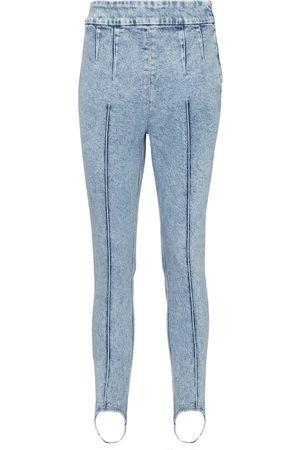 Isabel Marant Kvinna High waist - Nanouli high-rise skinny stirrup jeans