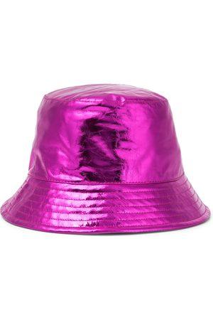 Isabel Marant Kvinna Hattar - Haley metallic leather bucket hat