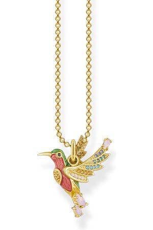 Thomas Sabo Halsband färgglad kolibri guld
