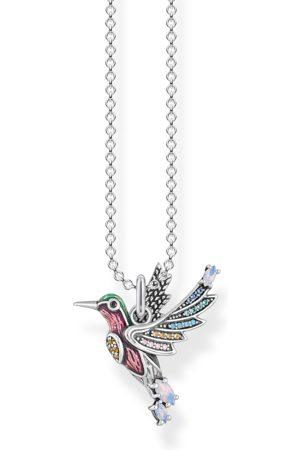 Thomas Sabo Kvinna Halsband - Halsband färgglad kolibri silver