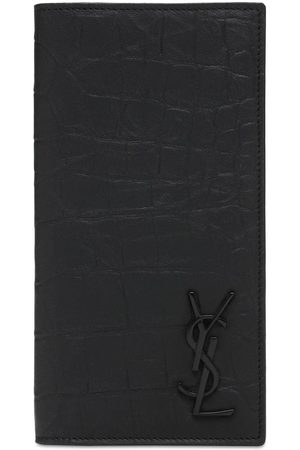 Saint Laurent Man Plånböcker - Monogram Embossed Continental Wallet