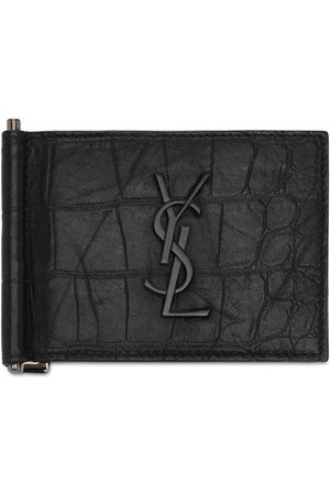 Saint Laurent Monogram Embossed Bill Clip Wallet