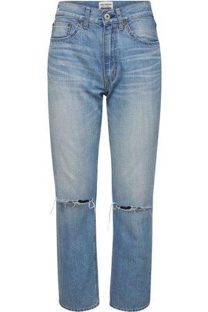 JUNYA WATANABE Destroyed Cotton Denim Jeans