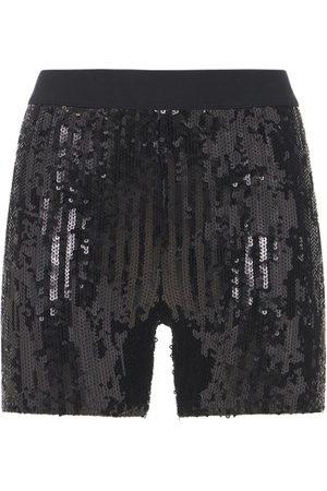 JUNYA WATANABE Nylon Sequin Embroidery Mini Shorts
