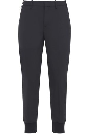 Neil Barrett Man Slim - Slim Stretch Wool Gabardine Blend Pants