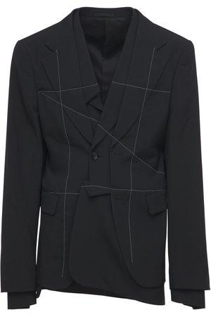 Comme des Garçons Stitched Distorted Wool Blazer
