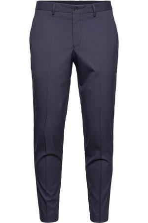 Selected Man Dressade byxor - Slhslim-Mylologan Navy Crop Trs B Noos Kostymbyxor Formella Byxor