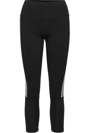 adidas Kvinna Tights - Believe This 2.0 3-Stripes Ribbed 7/8 Tights W Running/training Tights