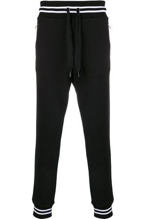 Dolce & Gabbana Man Joggingbyxor - Träningsbyxor med ribbade benslut med rand