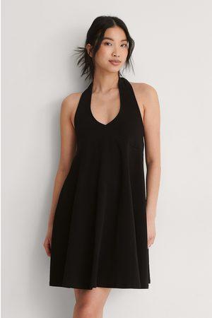 NA-KD Kvinna Casual klänningar - Ekologisk Jerseyklänning Med Halterneck