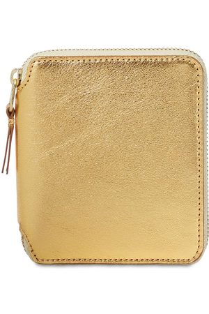 Comme des Garçons Gold Leather Zip-around Wallet