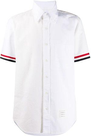 Thom Browne Kortärmad skjorta med randdetalj